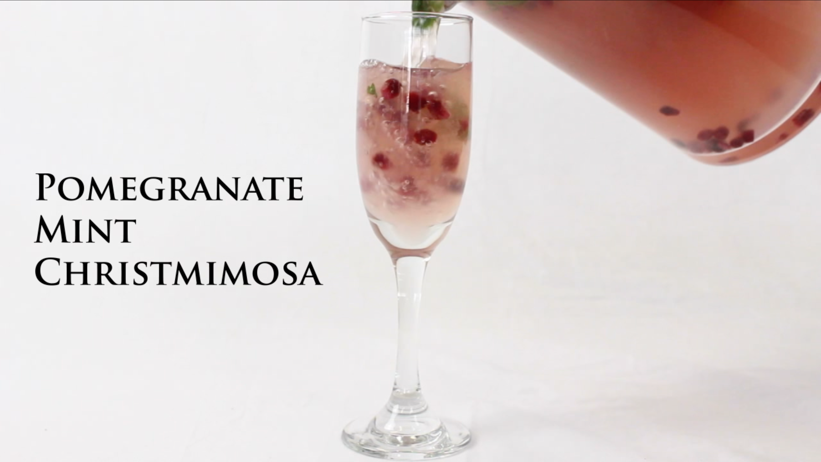 Pomegranate mint Christmimosa